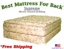 California Queen Supreme, Best Mattress For Back